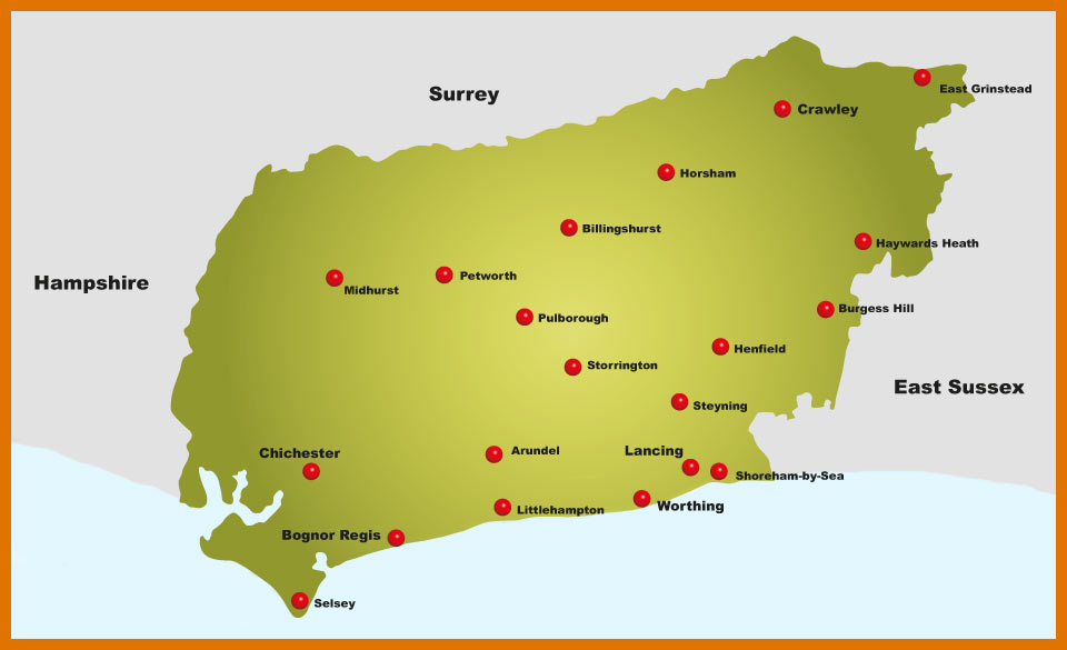 West Sussex Product Map