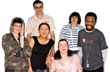 A group of young adults with differing disabilities.